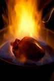 пламенеющее сердце Стоковая Фотография RF