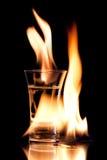 пламенеющее vodca Стоковые Фотографии RF