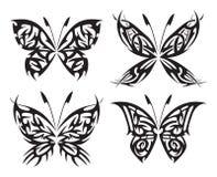 Пламенеющие бабочки Стоковые Фотографии RF
