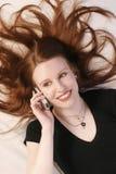 пламенеющие волосы Стоковая Фотография