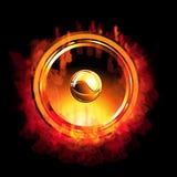 пламенеющий диктор золота Стоковое Изображение RF