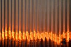 пламенеющий заход солнца Стоковая Фотография RF