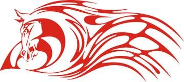 пламенеющий красный цвет лошади иллюстрация штока