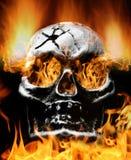 пламенеющий страшный череп Стоковая Фотография RF