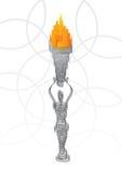 пламенеющий факел удерживания Стоковые Изображения