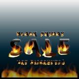 Пламенистая горячая черная продажа пятницы Выдвиженческий плакат знамени маркетинга шаблон ресторана конструкции принципиальной с Стоковое Изображение