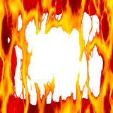 пламенистая рамка Стоковые Фото