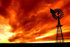 пламенистое небо Стоковые Изображения RF