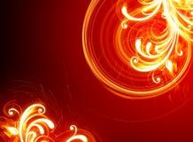 пламенистые цветки иллюстрация штока