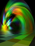 пламенистый фонтан Стоковая Фотография