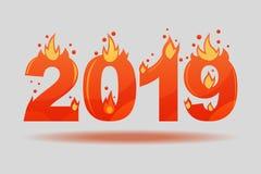 2019 пламенистых диаграмм рождества Символы для горячей партии иллюстрация штока