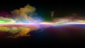 Пламя захода солнца иллюстрация вектора