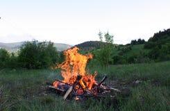 Пламя и золы горы carpathians Украина Стоковая Фотография