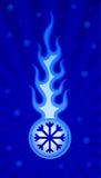 Пламя льда Стоковые Фото