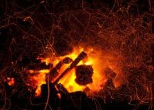 пламя пожара Стоковое Изображение RF