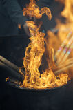Пламя пожара Стоковые Фотографии RF