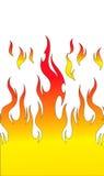 пламя пожара иллюстрация штока