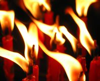 пламя свечки Стоковое фото RF