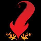 Пламя стрелки кабеля дьявола Стоковое фото RF