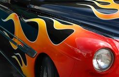 пламя украшений автомобиля классицистическое Стоковые Фотографии RF