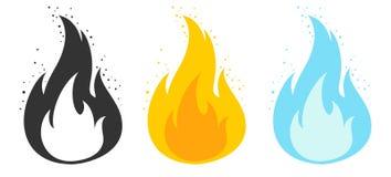 Пламя шаблона для игр иллюстрация вектора