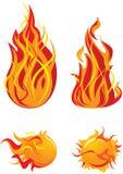пламя элементов иллюстрация вектора