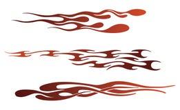 пламя элементов Стоковое Изображение RF