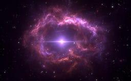 Планетарная туманность с белым карликом Для пользы с проектами на науке, исследовании, и образовании Стоковое Изображение RF