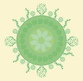 планета абстрактной предпосылки декоративная зеленая Стоковые Изображения RF