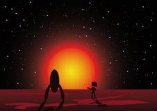 планета астронавта бесплатная иллюстрация