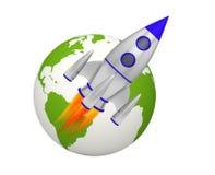 Планета взлета ракеты земли бесплатная иллюстрация