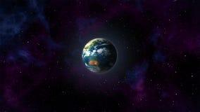 Планета в космосе, Земля, Луна иллюстрация вектора