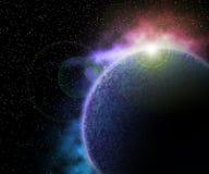 Планета в предпосылке космоса Стоковое Изображение RF