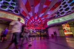 Планета Голливуд на красочной прокладке Лас-Вегас, Соединенных Штатах a стоковые фотографии rf