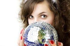 планета девушки земли Стоковое Изображение RF