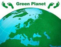 планета европы центральной земли зеленая Стоковое Изображение