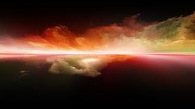 Планета захода солнца стоковое изображение rf