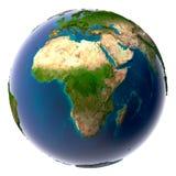 планета земли естественная реалистическая Стоковое Изображение