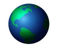 планета земли изолированная графиком Стоковое Изображение RF