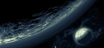 Планета и луна Плутона стоковое изображение
