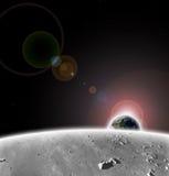 планета луны земли Стоковое Изображение RF