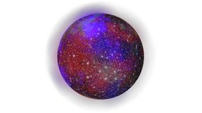планета на белой предпосылке Стоковое Фото