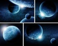 планета пакета eart апокалипсиса иллюстрация штока