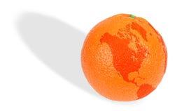 планета померанцев земли Стоковые Изображения