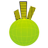 планета района жизни города солнечная стоковые изображения rf