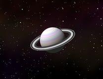 Планета Сатурна в графическом дизайне солнечной системы Стоковое Фото