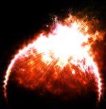 Планета с вспышкой солнца бесплатная иллюстрация