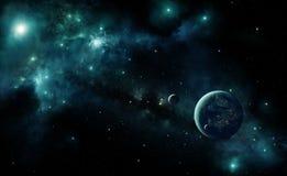 Планета чужеземца в космосе Стоковое фото RF
