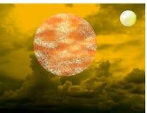 Планеты, планеты в неизвестной системе? стоковые изображения rf