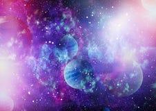 Планеты, звезды и галактики в космическом пространстве показывая красоту космического исследования Элементы поставленные NASA Стоковые Фото